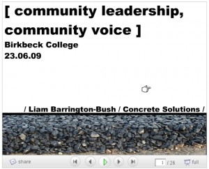 community leadership, community voice image