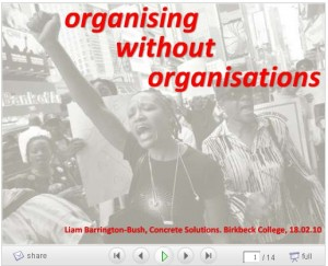 organising without organisations image
