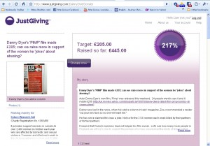 #DannyDyerDonate Just Giving Page