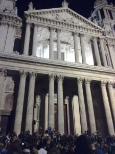 St Pauls. At Night. With #Occupy.